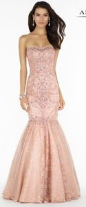 Alyce Blush pink mermaid prom lace dress gown 12